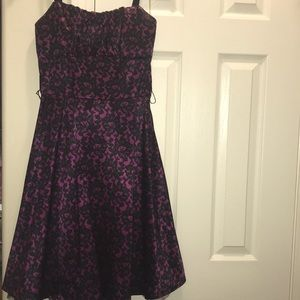 Dress Barn Black/purple dress